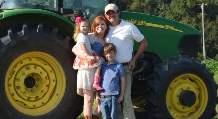 The Luckett Family: Derek, Kacie, Dalton and Maycee